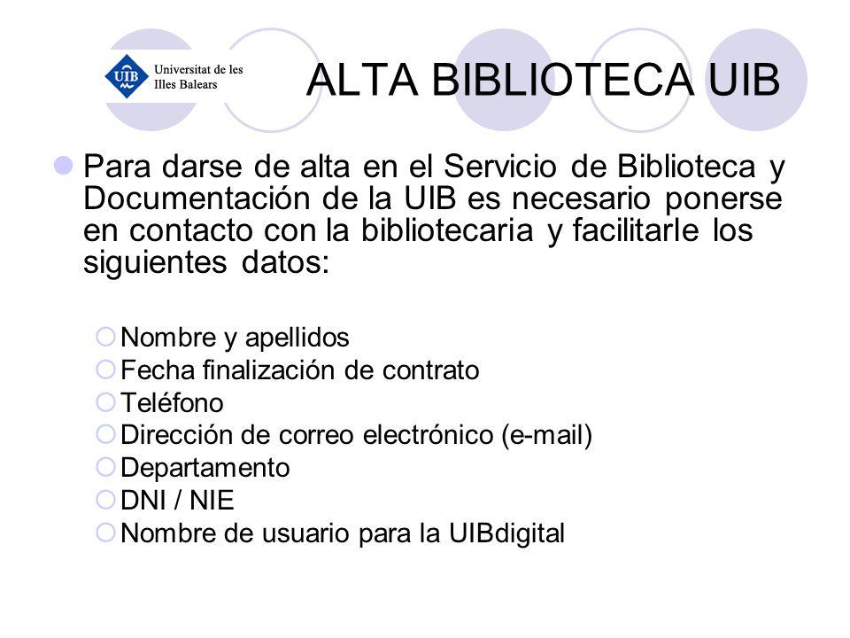 ALTA BIBLIOTECA UIB
