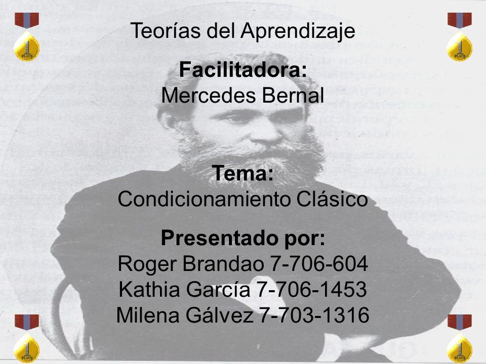 Teorías del Aprendizaje Facilitadora: Mercedes Bernal