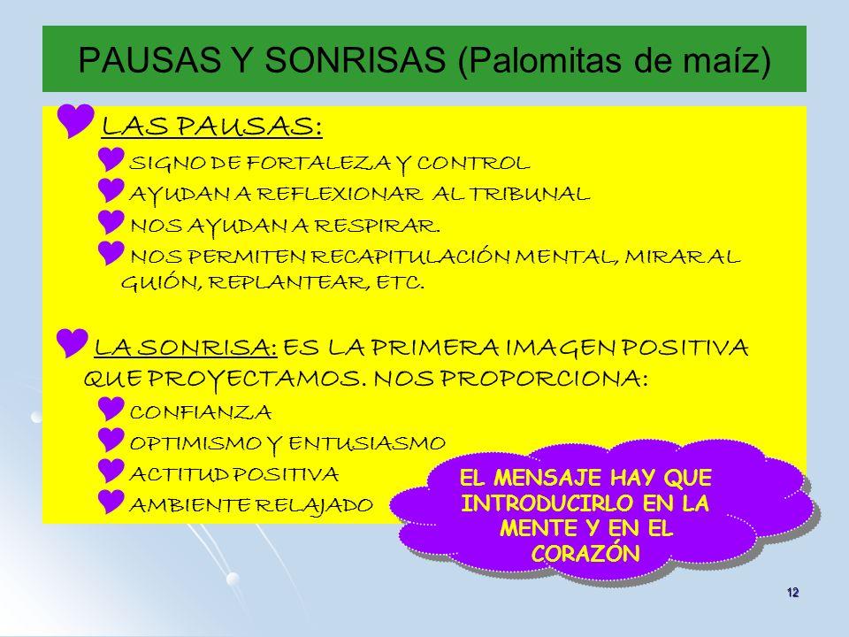 PAUSAS Y SONRISAS (Palomitas de maíz)