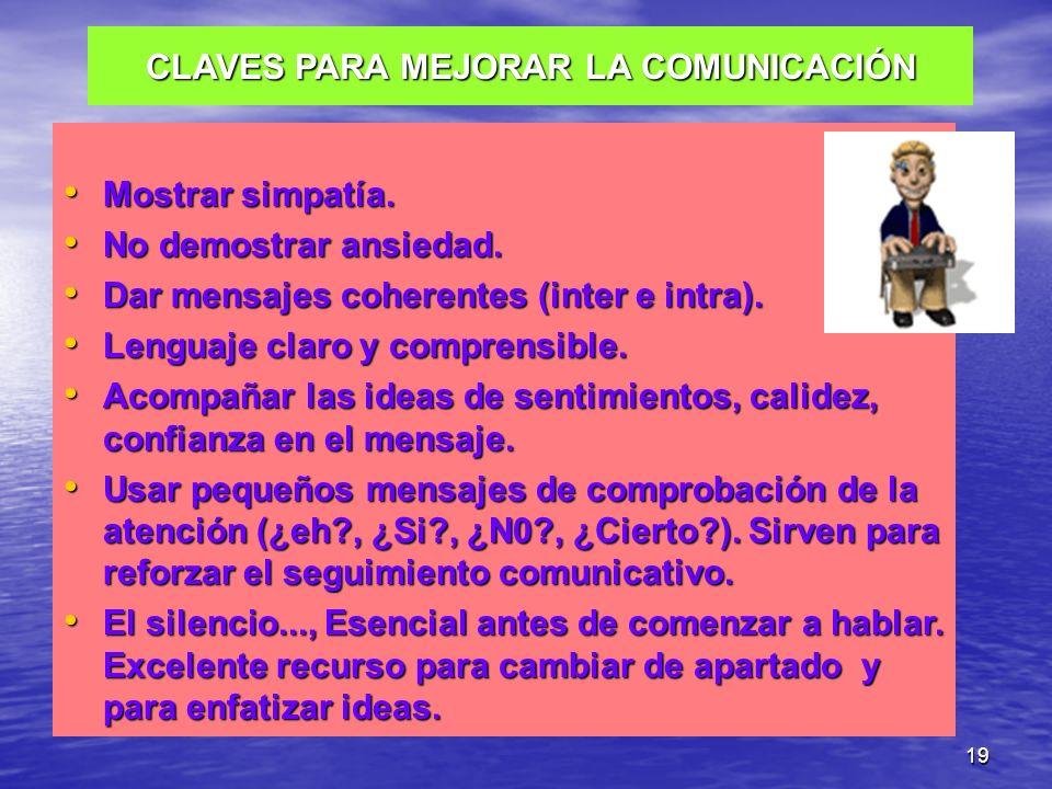 CLAVES PARA MEJORAR LA COMUNICACIÓN