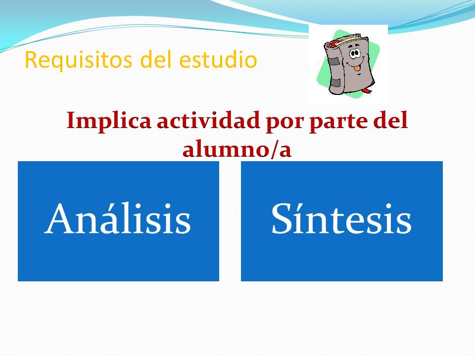 Requisitos del estudio