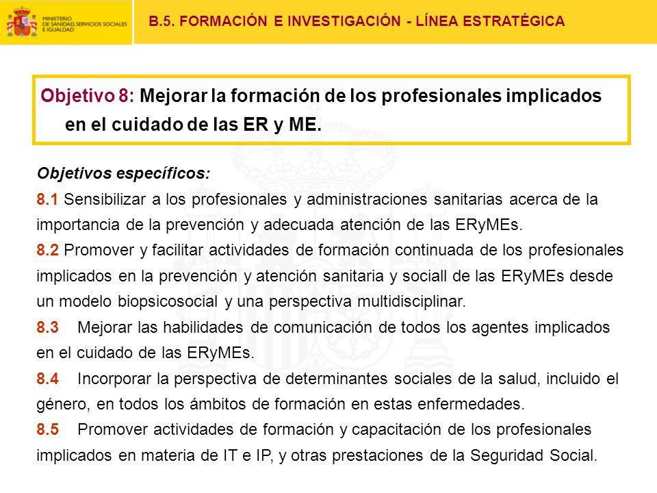 B.5. FORMACIÓN E INVESTIGACIÓN - LÍNEA ESTRATÉGICA