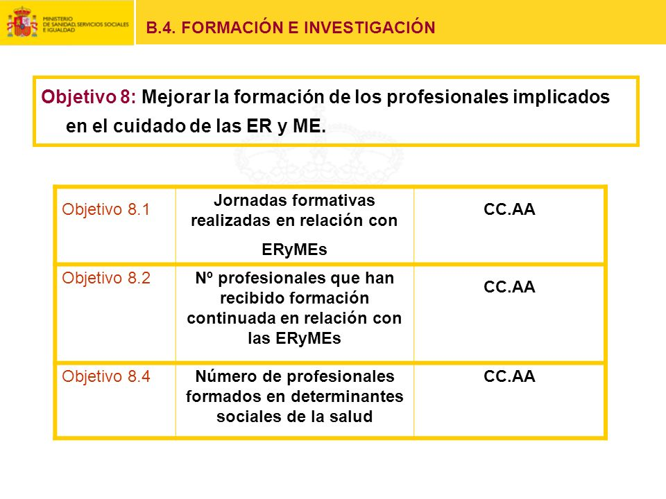 B.4. FORMACIÓN E INVESTIGACIÓN