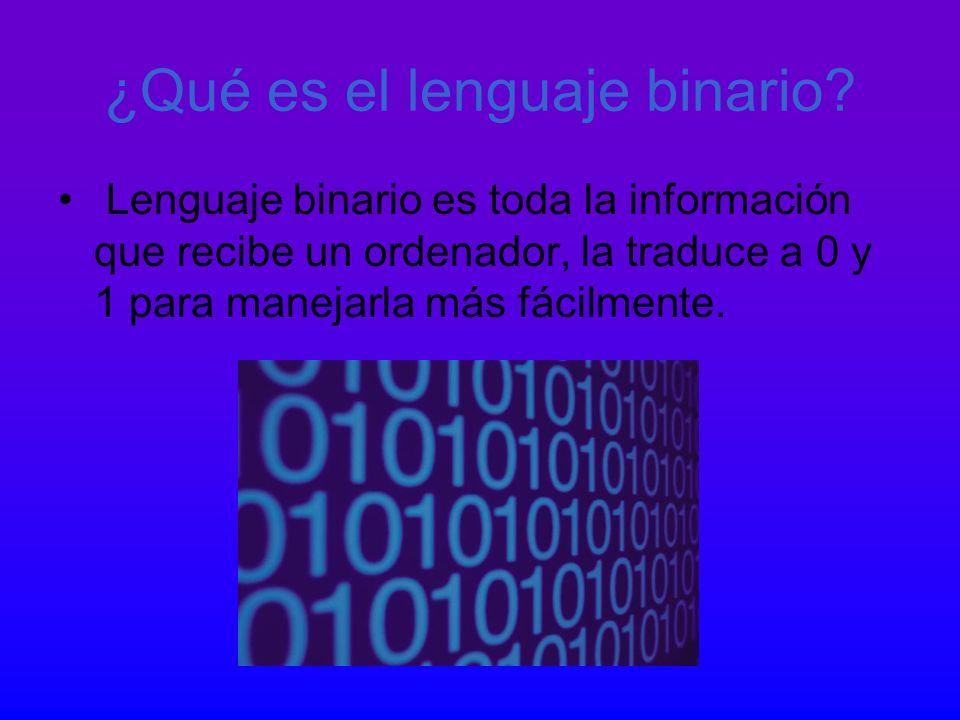 ¿Qué es el lenguaje binario