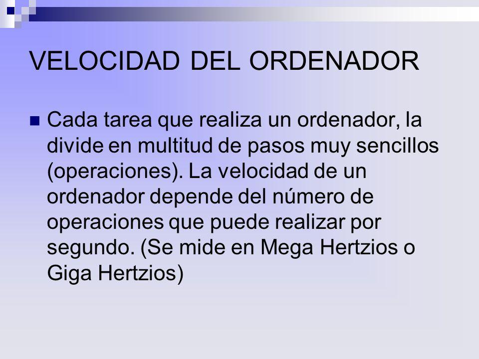 VELOCIDAD DEL ORDENADOR