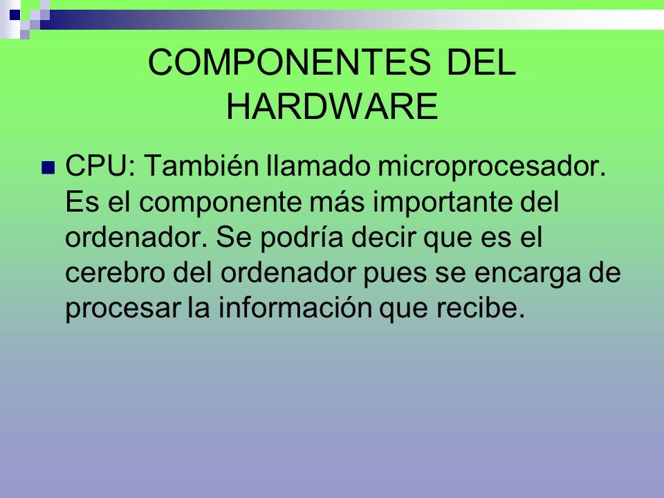 COMPONENTES DEL HARDWARE