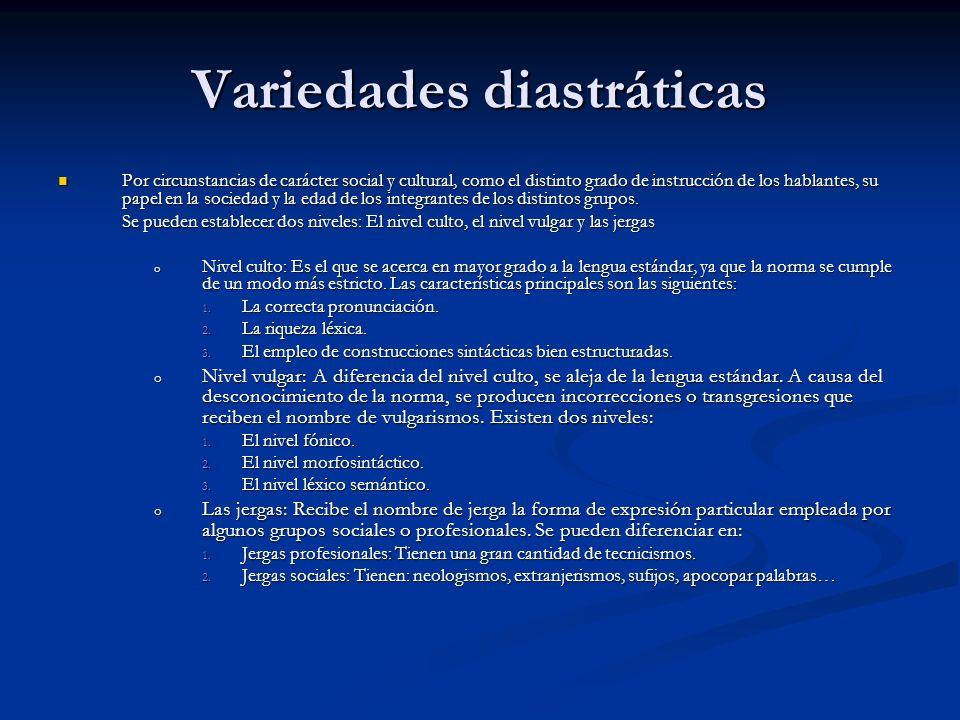 Variedades diastráticas