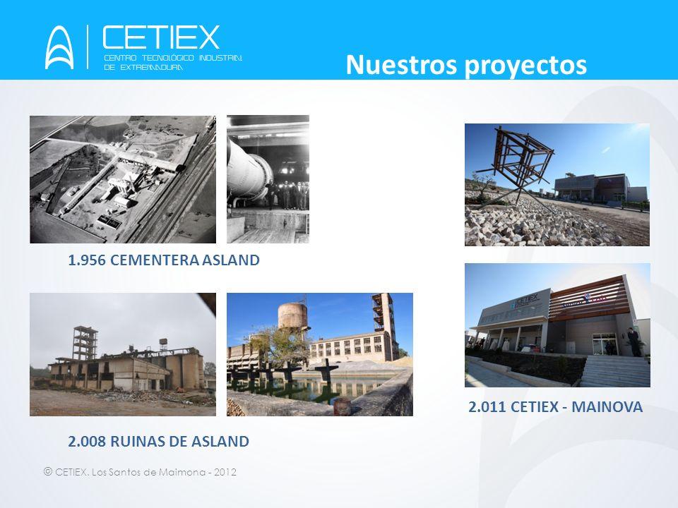Nuestros proyectos 1.956 CEMENTERA ASLAND 2.011 CETIEX - MAINOVA