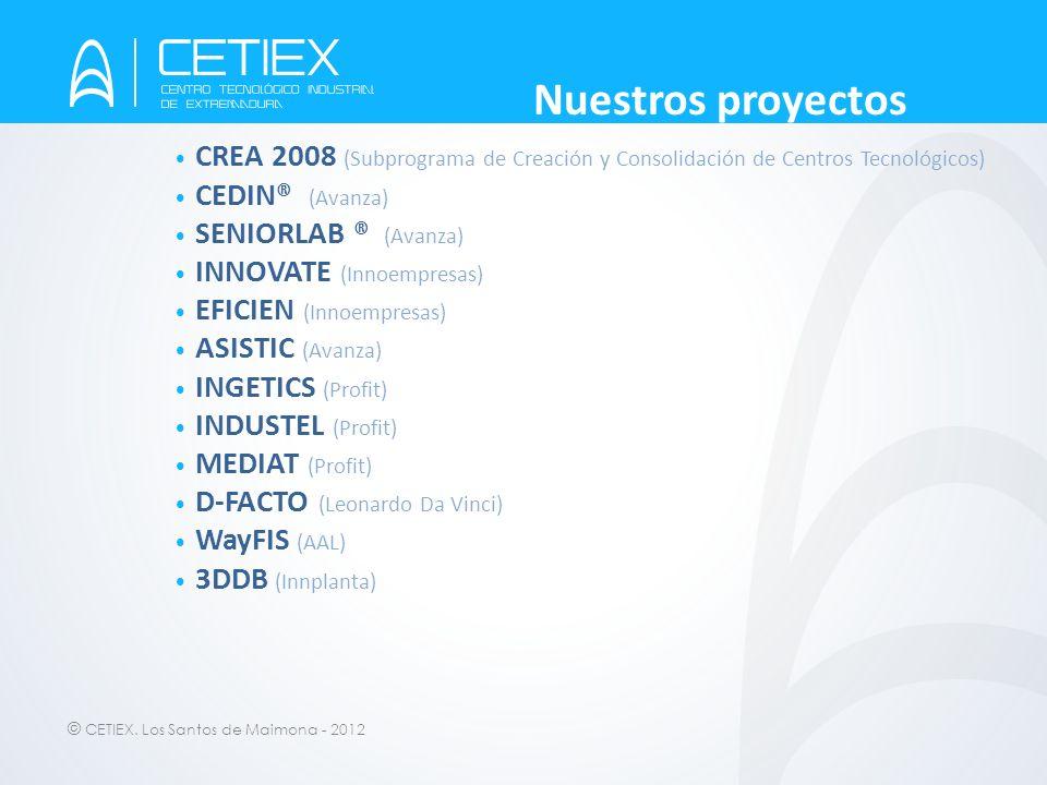 Nuestros proyectos CREA 2008 (Subprograma de Creación y Consolidación de Centros Tecnológicos) CEDIN® (Avanza)