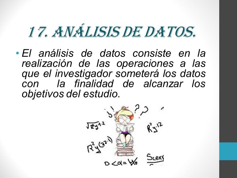 17. Análisis de datos.