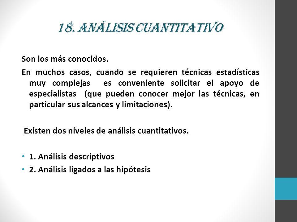 18. Análisis cuantitativo