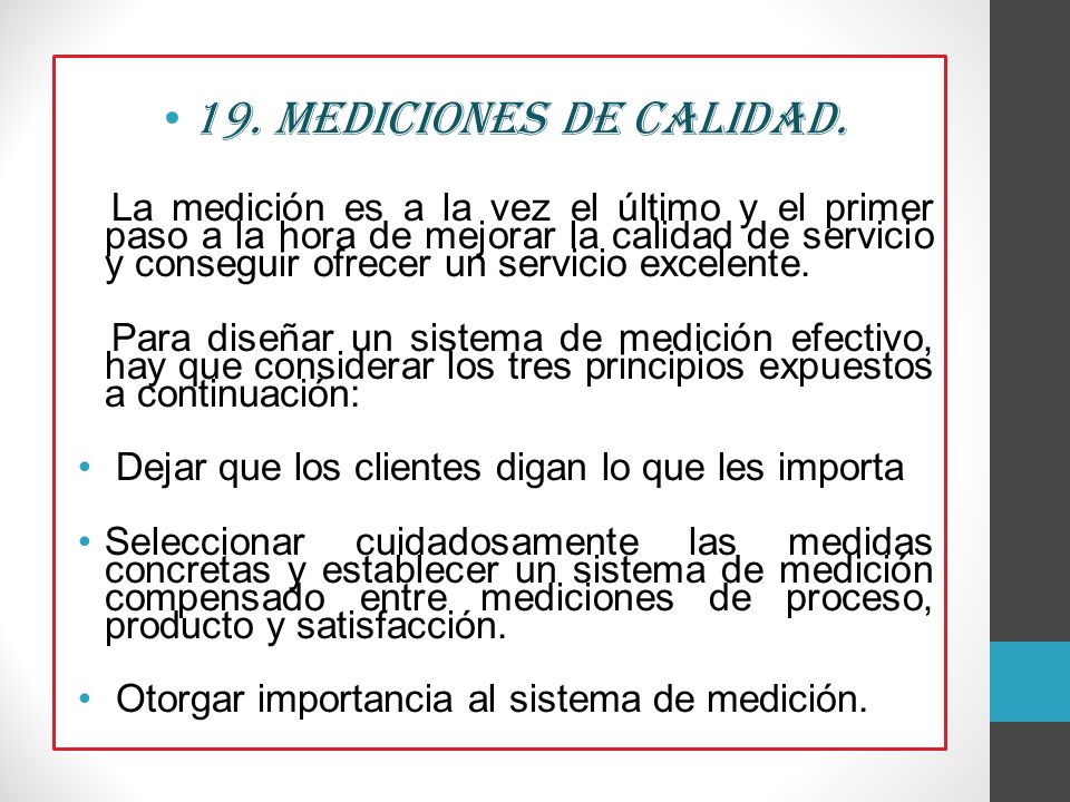 19. Mediciones de Calidad.