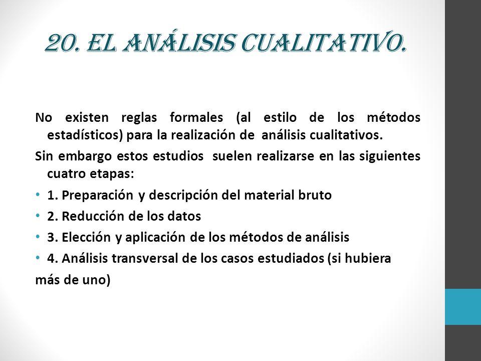 20. El análisis cualitativo.