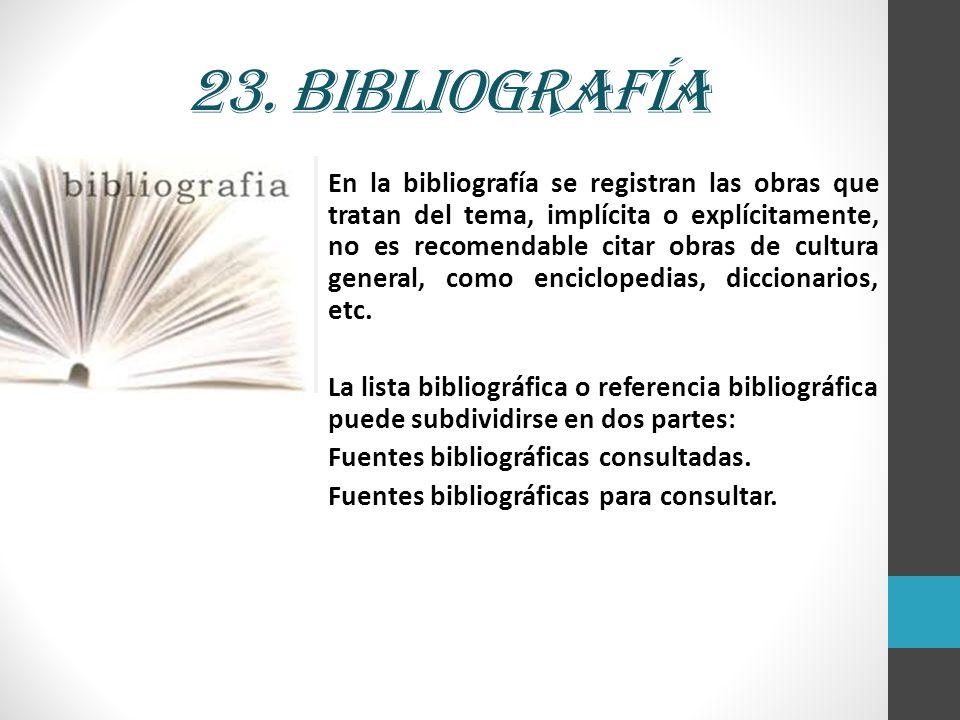 23. Bibliografía