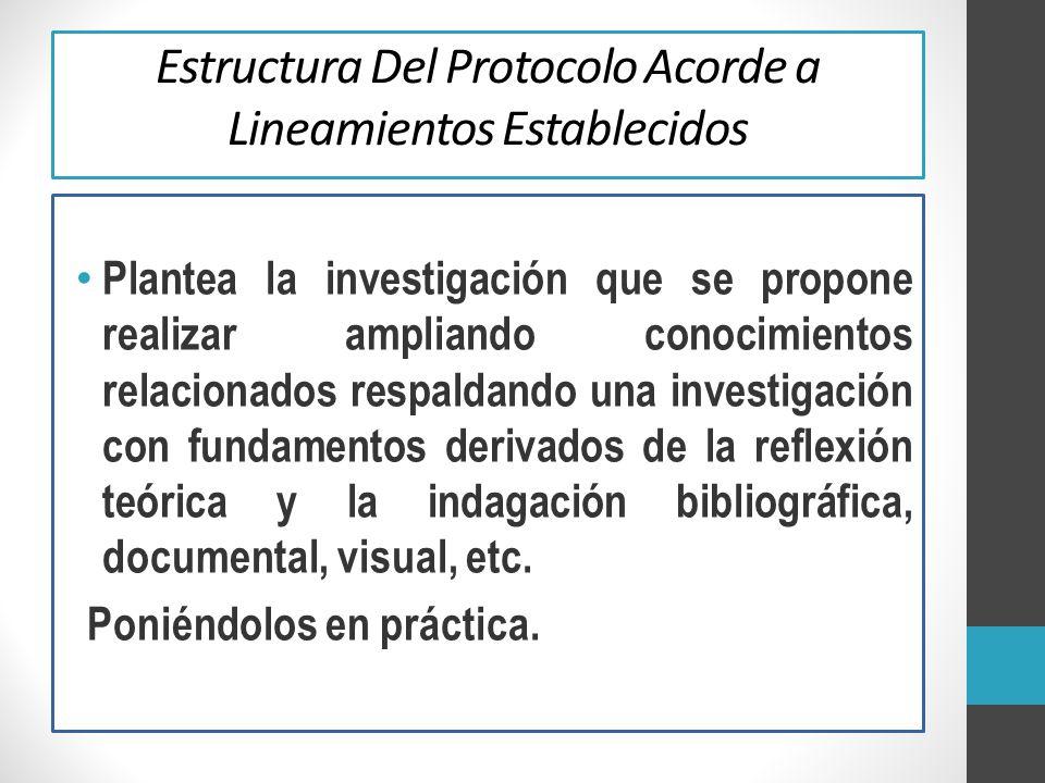 Estructura Del Protocolo Acorde a Lineamientos Establecidos
