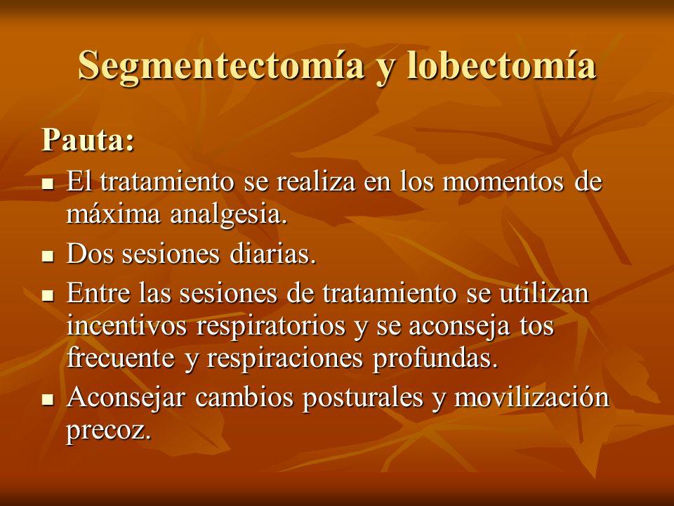 Segmentectomía y lobectomía
