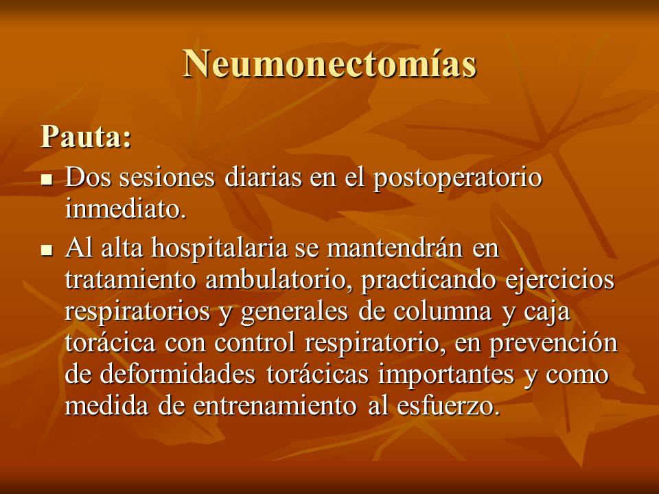 Neumonectomías Pauta: