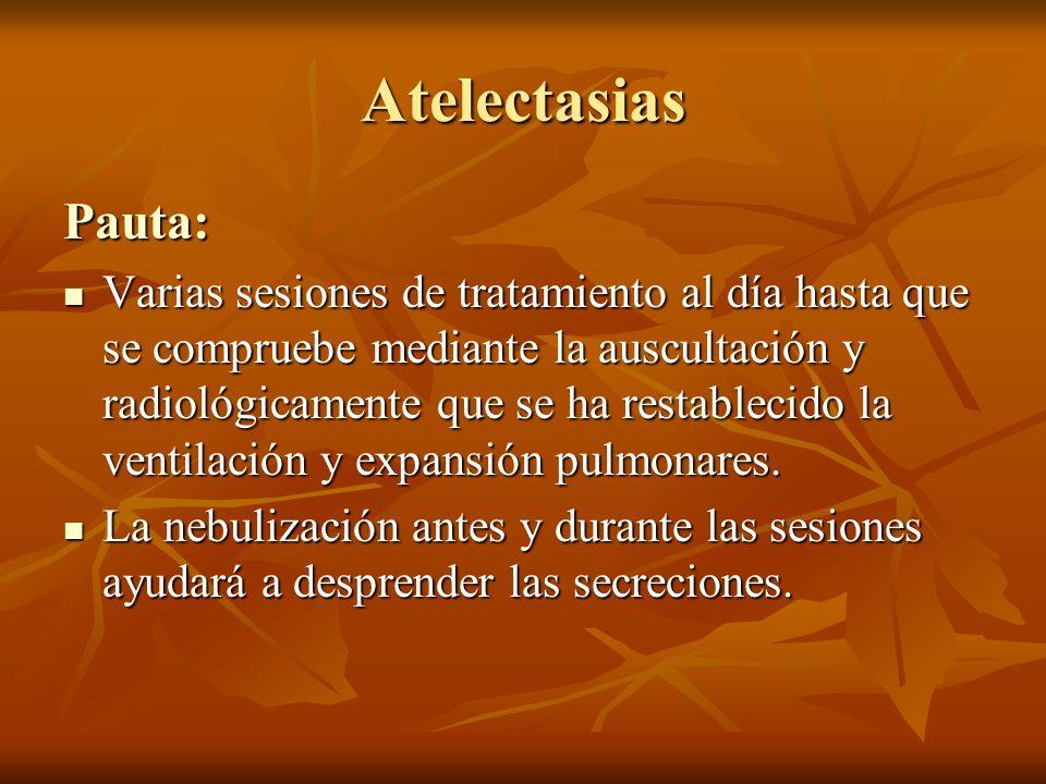 Atelectasias Pauta: