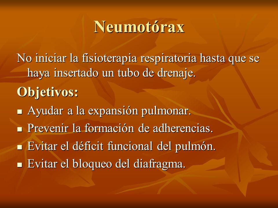 Neumotórax Objetivos: