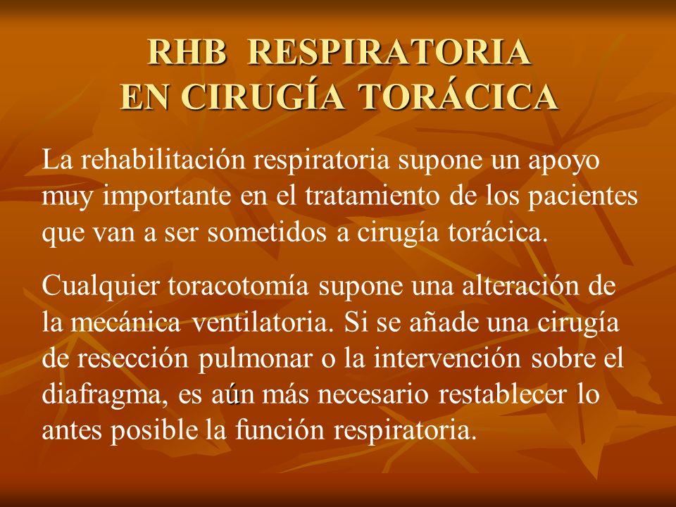 RHB RESPIRATORIA EN CIRUGÍA TORÁCICA