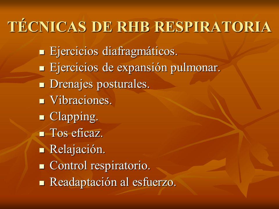TÉCNICAS DE RHB RESPIRATORIA