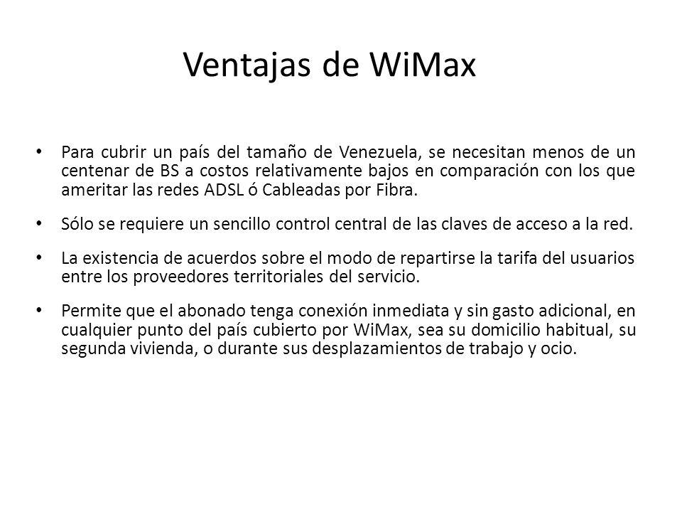 Ventajas de WiMax