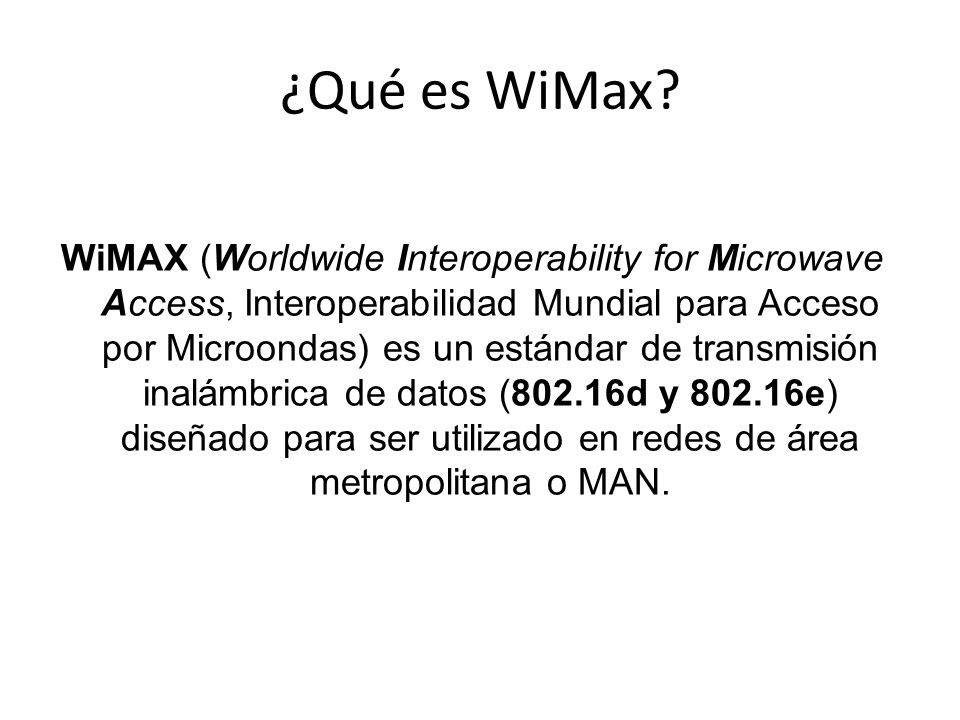 ¿Qué es WiMax