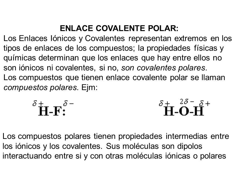 ENLACE COVALENTE POLAR: