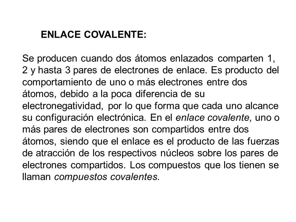 ENLACE COVALENTE: