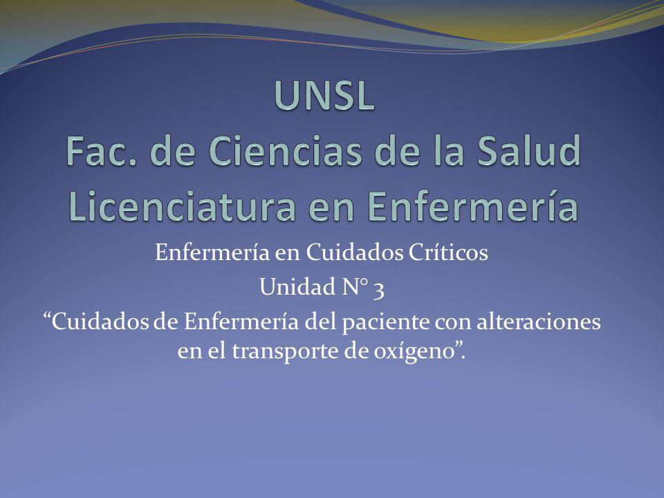 UNSL Fac. de Ciencias de la Salud Licenciatura en Enfermería