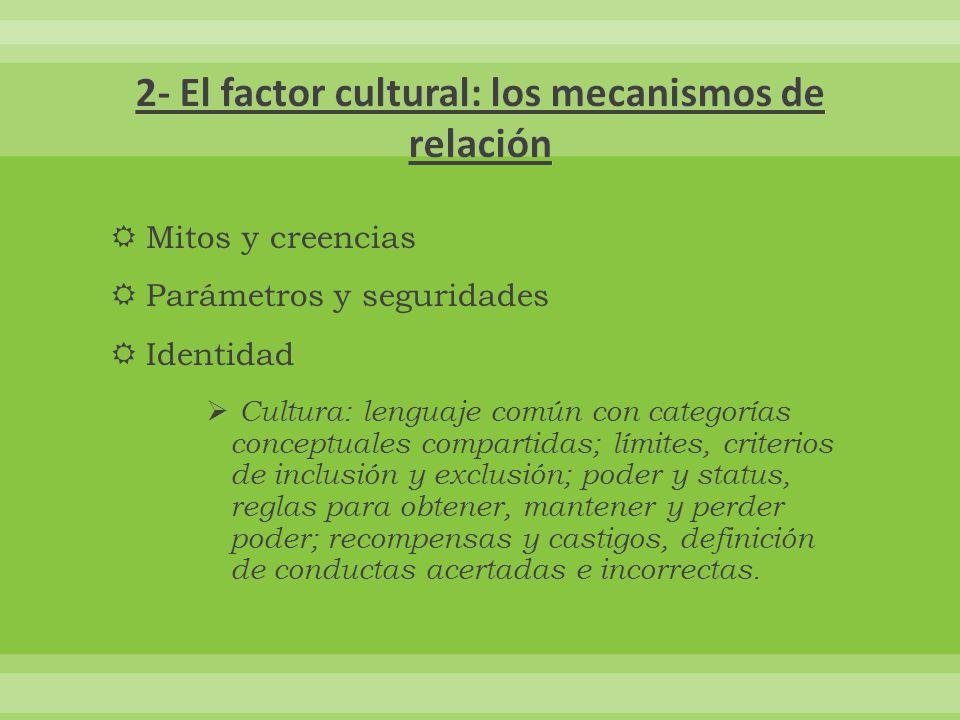 2- El factor cultural: los mecanismos de relación