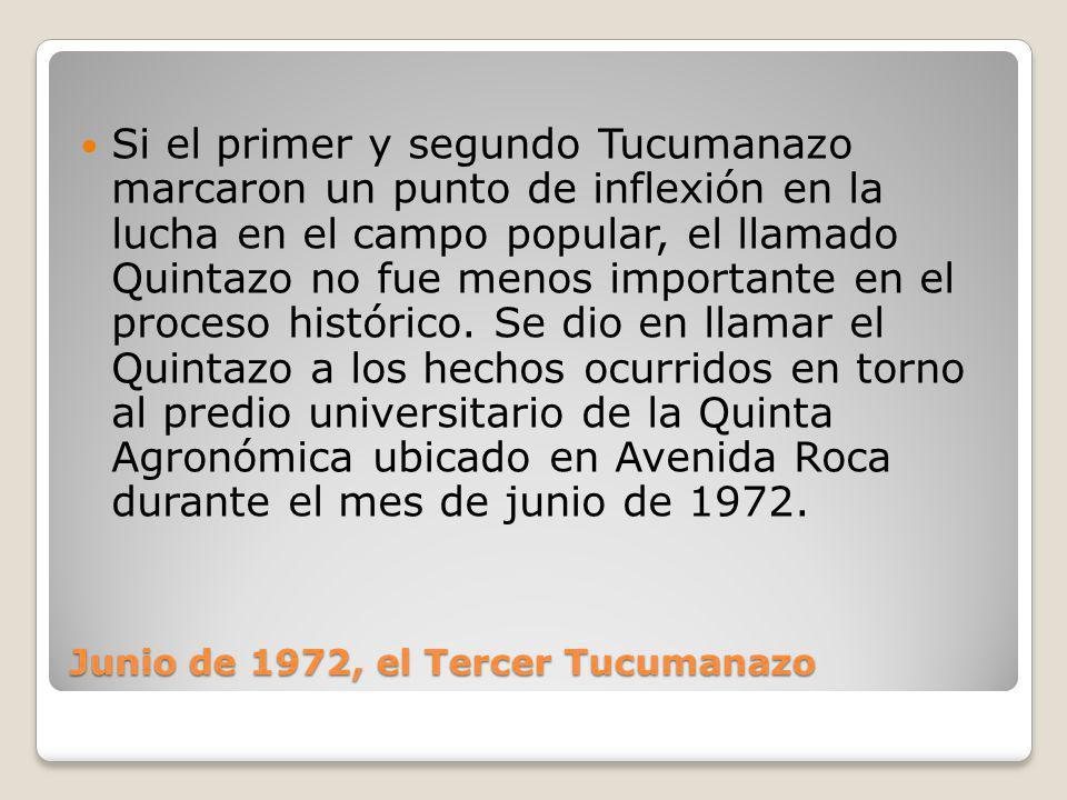 Junio de 1972, el Tercer Tucumanazo