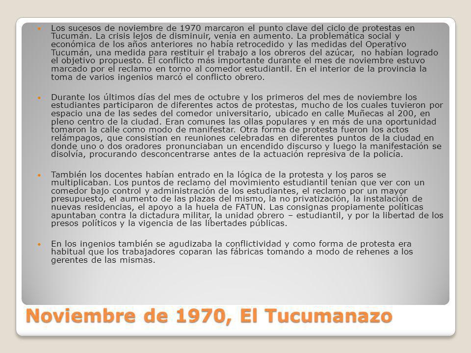 Noviembre de 1970, El Tucumanazo