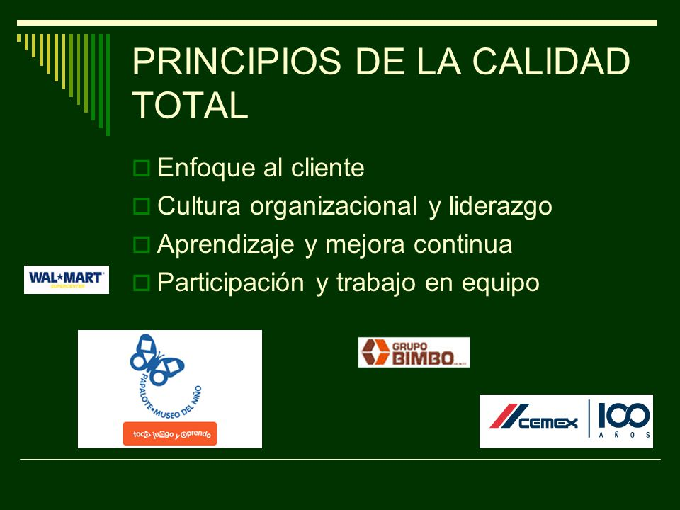 PRINCIPIOS DE LA CALIDAD TOTAL