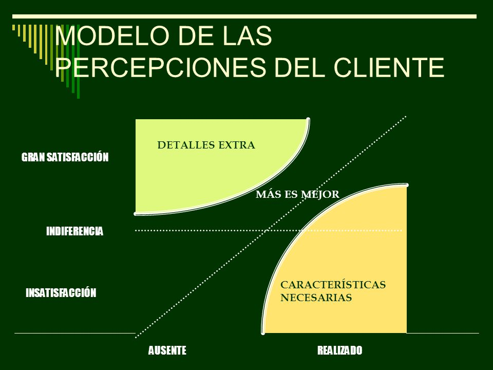 MODELO DE LAS PERCEPCIONES DEL CLIENTE