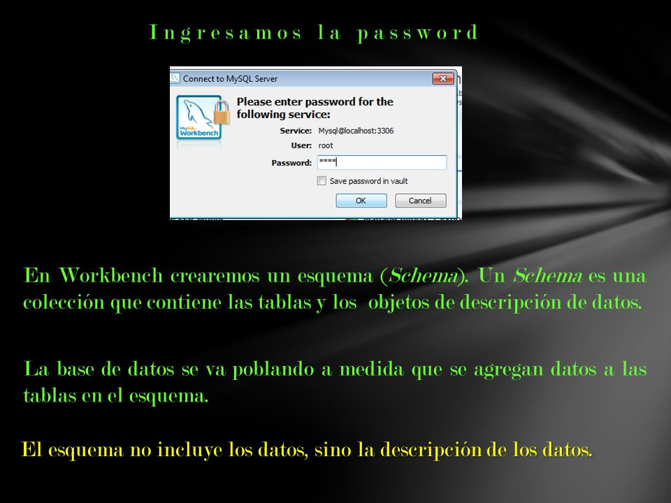 Ingresamos la password