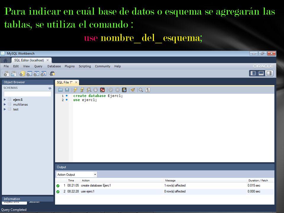 use nombre_del_esquema;