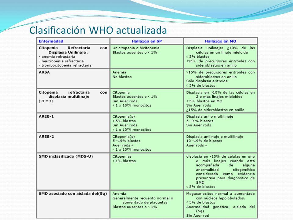 Clasificación WHO actualizada