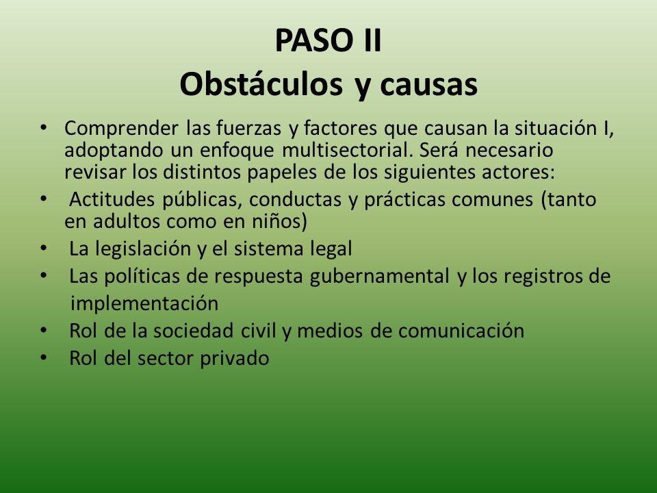 PASO II Obstáculos y causas