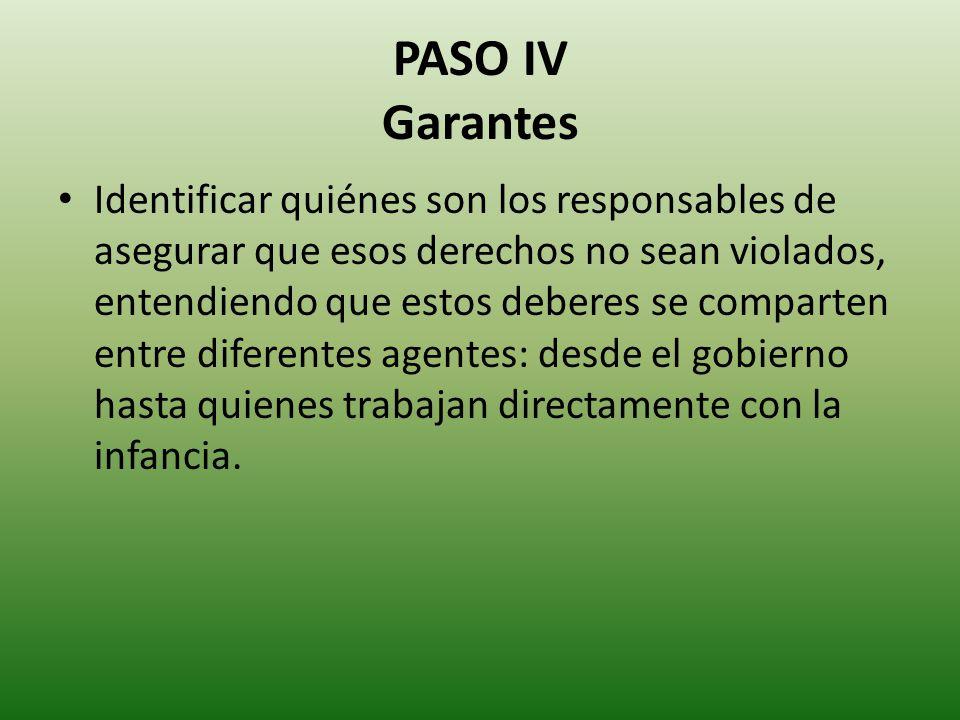 PASO IV Garantes