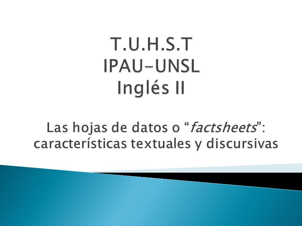 T.U.H.S.T IPAU-UNSL Inglés II