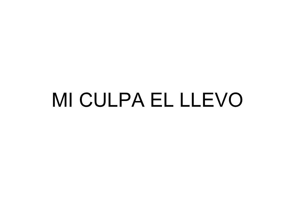 MI CULPA EL LLEVO