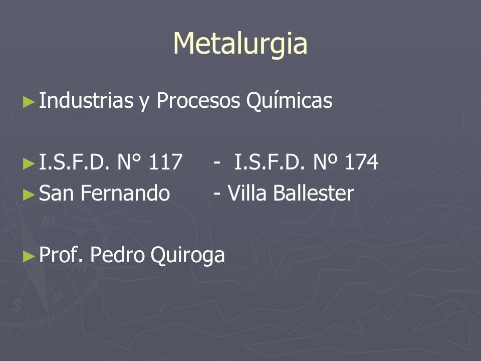Metalurgia Industrias y Procesos Químicas