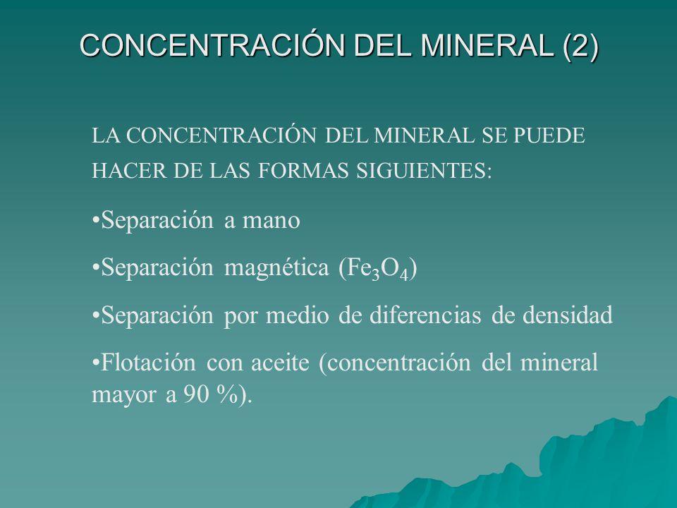 CONCENTRACIÓN DEL MINERAL (2)