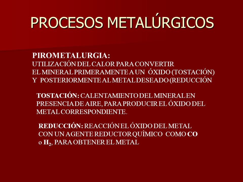 PROCESOS METALÚRGICOS
