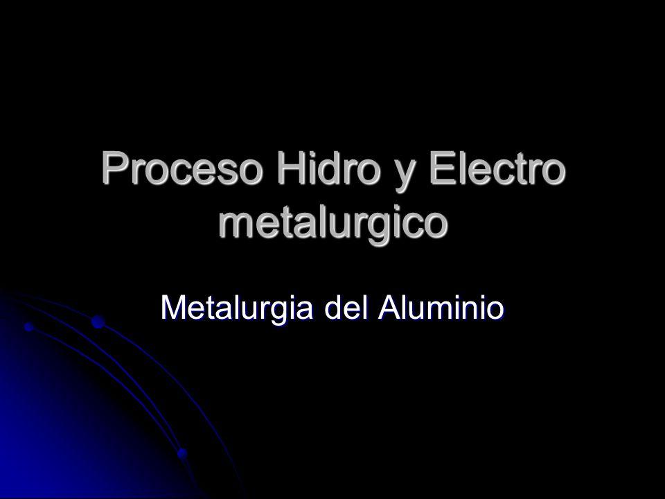 Proceso Hidro y Electro metalurgico
