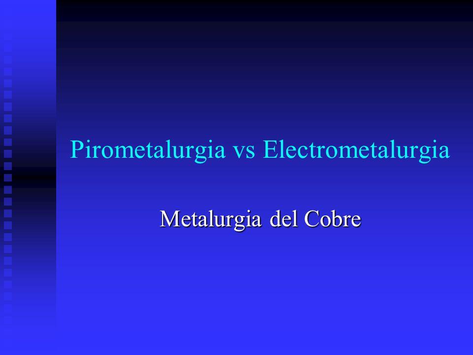 Pirometalurgia vs Electrometalurgia