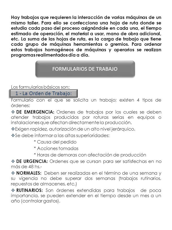 FORMULARIOS DE TRABAJO