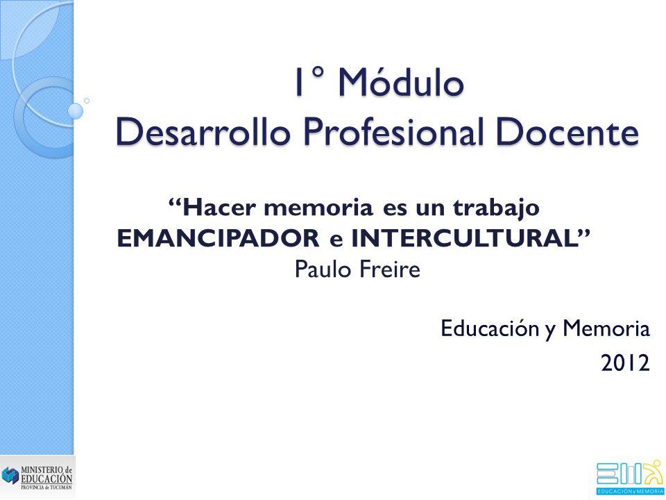 1° Módulo Desarrollo Profesional Docente