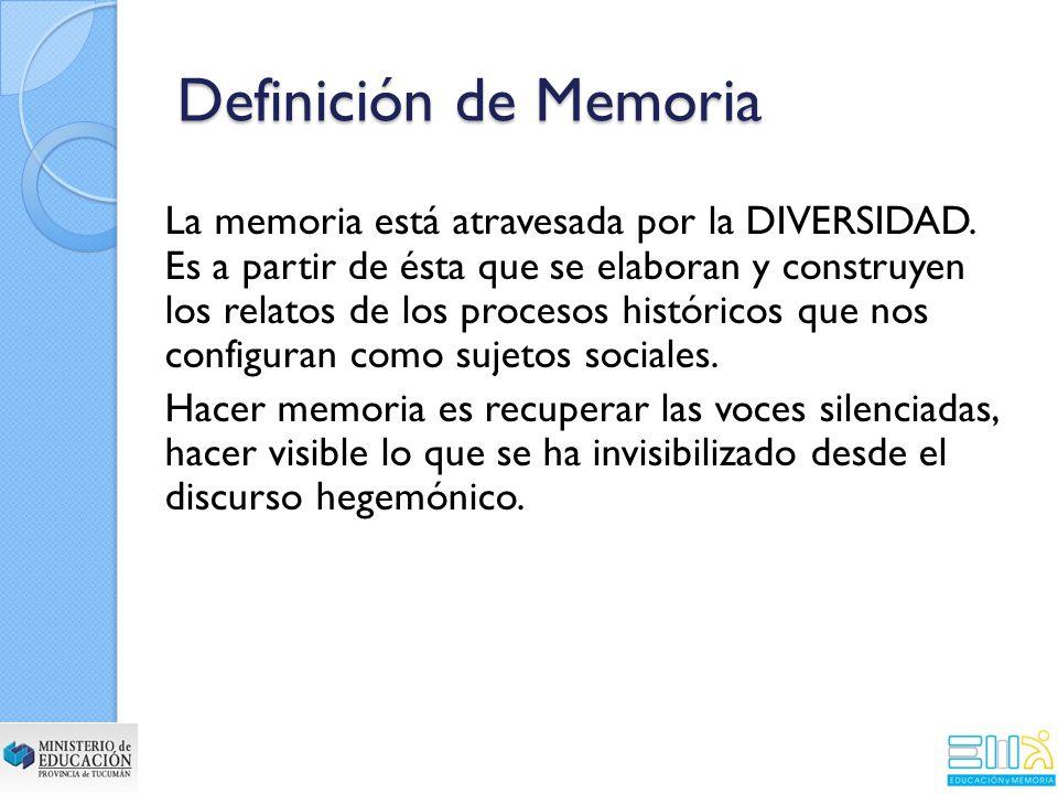 Definición de Memoria